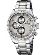 Festina F16759-2 Mens Silver Steel Bracelet Chronograph Watch