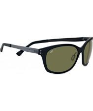 Serengeti Sara Satin Black Polarized PhD 555nm Sunglasses