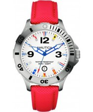 Nautica Mens BFD 101 White Red Watch.