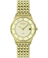 Rotary GB08002-03 Mens Ultra Slim Gold Plated Watch