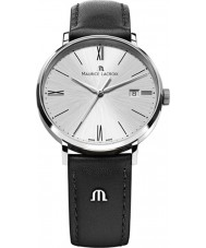 Maurice Lacroix EL1087-SS001-110 Mens Eliros Silver and Black Leather Strap Watch