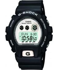 Casio GD-X6900-7ER Mens G-Shock World Time White Black Digital Watch