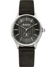 Barbour BB021SLBK Mens Glysdale Black Fabric Strap Watch