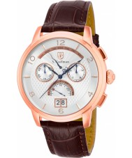 S Coifman SC0180 Mens Brown Leather Chronograph Watch