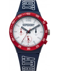 Superdry SYG205U Mens Urban Athletics Blue Silicone Strap Watch