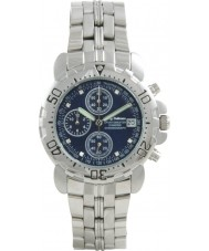 Krug Baümen 241269DM-BL Blue Sportsmaster Diamond Mens Chronograph Watch