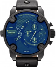 Diesel DZ7257 Mens Little Daddy Revo Glass Black Chronograph Watch