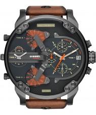 Diesel DZ7332 Mens Mr Daddy Multifunction Tan Leather Strap Watch