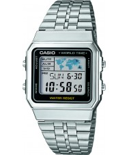 Casio A500WEA-1EF Collection Silver Steel Bracelet Watch
