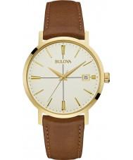 Bulova 97B151 Mens Aerojet Brown Leather Strap Watch