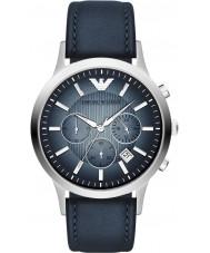 Emporio Armani AR2473 Mens Classic Chronograph Silver Blue Watch