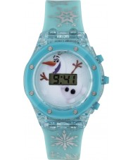 Disney FZN3799 Girls Olaf Flashing Watch with Blue Silicone Strap
