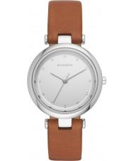 Skagen SKW2458 Ladies Tanja Dark Brown Leather Strap Watch
