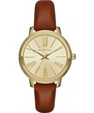 Michael Kors MK2521 Ladies Hartman Brown Leather Strap Watch
