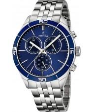 Festina F16762-2 Mens Silver Steel Bracelet Chronograph Watch