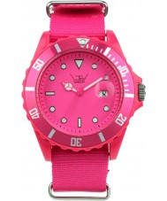 LTD Watch LTD-091101 Shocking Pink Canvas Strap Watch