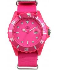 LTD Watch LTD-091101 Shocking Pink Canvas Strap Watch