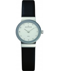 Skagen 358XSSLBC Ladies Klassik Black Leather Strap Watch