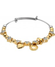 Emozioni DC144 Ladies Yellow Gold Plated Crystal Star Bangle