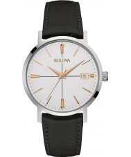 Bulova 98B254 Mens Aerojet Black Leather Strap Watch