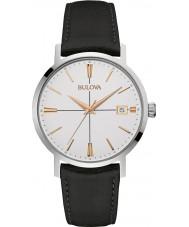 Bulova 98B254 Mens Aerojet Black Leather Strap Watch