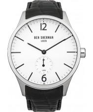 Ben Sherman WB003B Mens White and Black Leather Strap Watch
