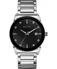 Bulova 96D121 Mens Diamond Silver Steel Bracelet Watch