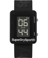 Superdry SYG204B Mens Sprint Digi Black Silicone Strap Watch