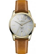 Barbour BB049GDBR Ladies Leighton Brown Leather Strap Watch