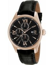 S Coifman SC0172 Mens Black Leather Strap Watch