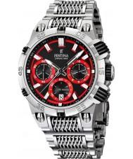 Festina F16774-8 Mens 2014 Chrono Bike Tour De France Red Silver Watch