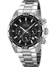 Festina F16766-4 Mens Silver Steel Bracelet Chronograph Watch