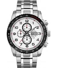 Bulova 98C114 Mens Marine Star Silver Chronograph Watch