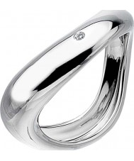 Hot Diamonds DR114-S Ladies Go With The Flow Sterling Silver Twist Ring - Size S