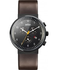 Braun BN0035BKBRG Mens Black Brown Watch