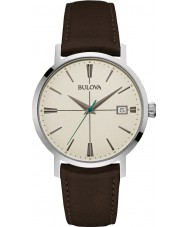 Bulova 96B242 Mens Aerojet Brown Leather Strap Watch
