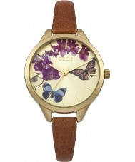 Oasis B1540 Ladies Tan Leather Strap Watch