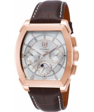 S Coifman SC0090 Mens Brown Leather Strap Watch