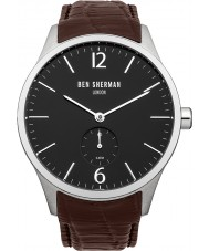 Ben Sherman WB003BR Mens Black and Brown Leather Strap Watch