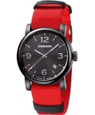 Wenger 01-1041-132 Mens Urban Metropolitan Red Nylon Strap Watch