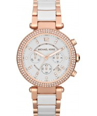 Michael Kors MK5774 Ladies Parker Two Tone Ceramic Chronograph Watch