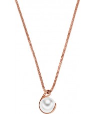 Skagen SKJ0652791 Ladies Agnethe Rose Gold Pearl Pendant Necklace