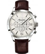 Thomas Sabo WA0016-212-201-43mm Mens Urban Dark Brown Leather Chronograph Watch