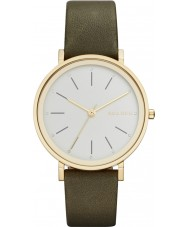 Skagen SKW2491 Ladies Hald Green Leather Strap Watch