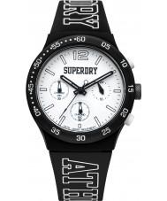 Superdry SYG205B Mens Urban Athletics Black Silicone Strap Watch