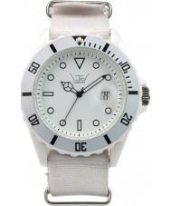 LTD Watch LTD-021101 All White Canvas Strap Watch