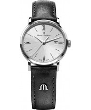 Maurice Lacroix EL1084-SS001-110-1 Ladies Eliros Silver and Black Leather Strap Watch