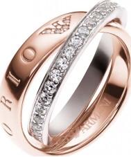 Emporio Armani Ladies Signature Two Tone Ring