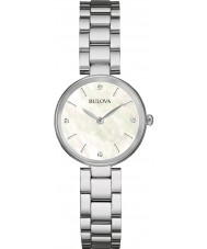 Bulova 96S159 Ladies Diamond Gallery Silver Steel Bracelet Watch