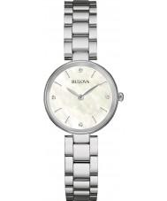 Bulova 96S159 Ladies Diamond Gallery Silver Steel Bracelet Watch